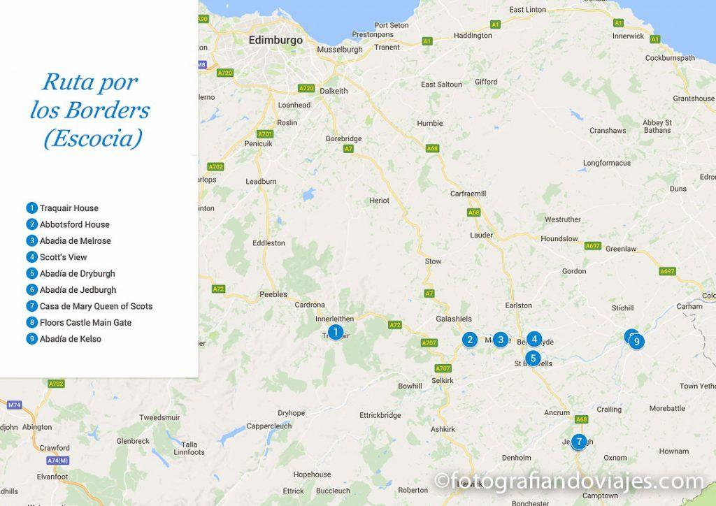 Ruta por las abadias de los Borders en Escocia