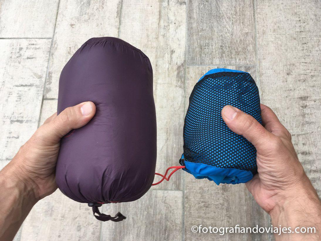 Abrigo de plumas (izq) y chubasquero Gore-Tex® (dcha)