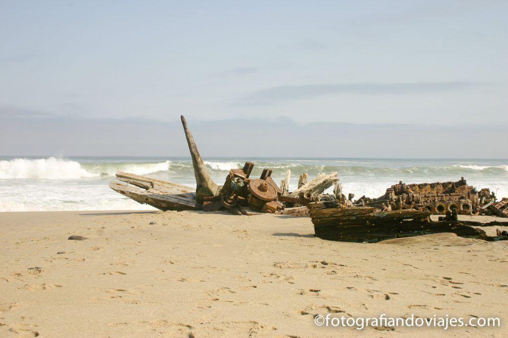 Costa de los esqueletos en namibia