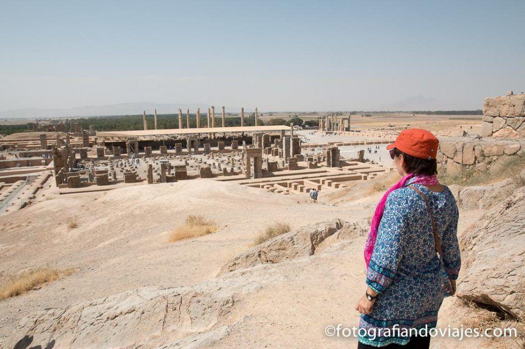 Vistas desde la tumba de Artajerjes III