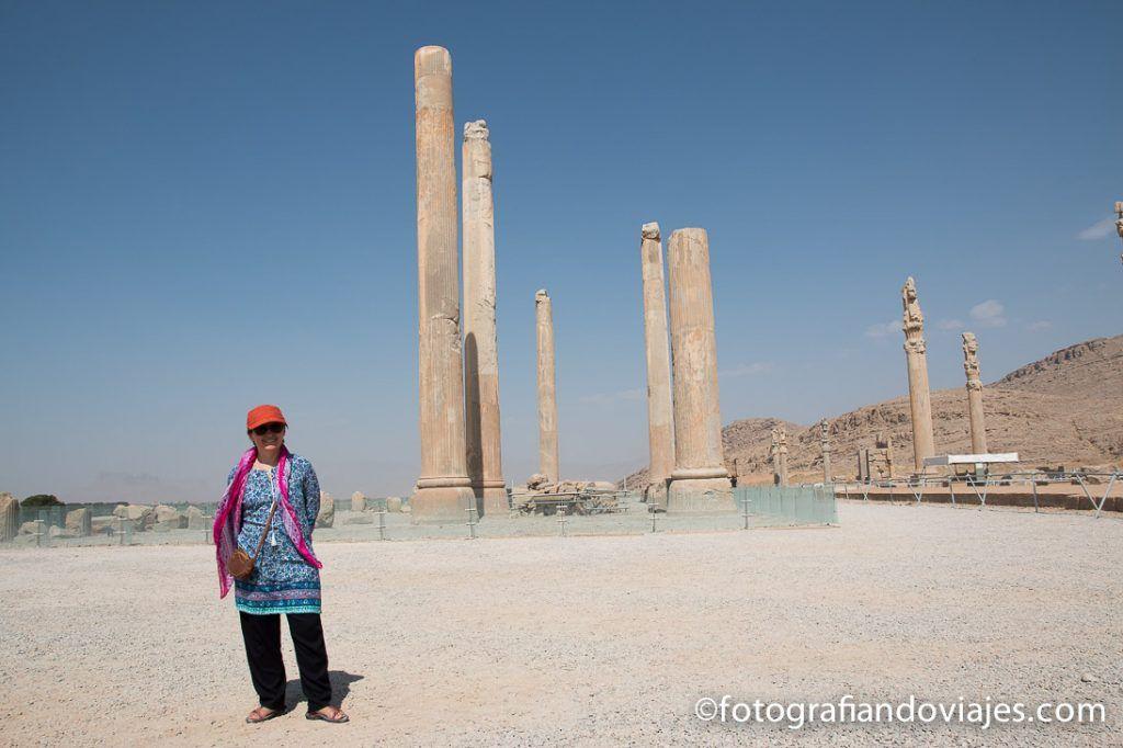 Palacio de las 100 columnas de Persepolis