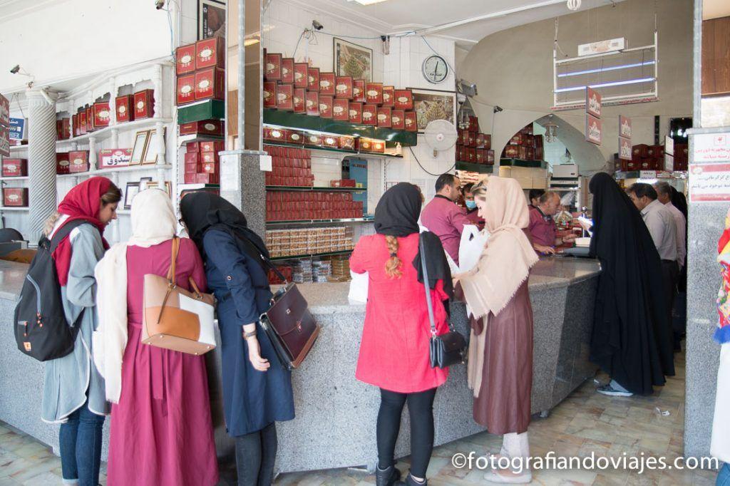 Pastelería Haj Khalifeh Ali Rahbar en Yazd