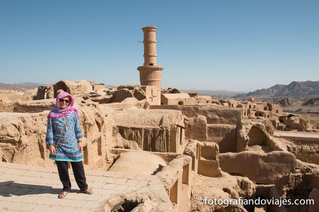 Minarete vibrante de Kharanaq