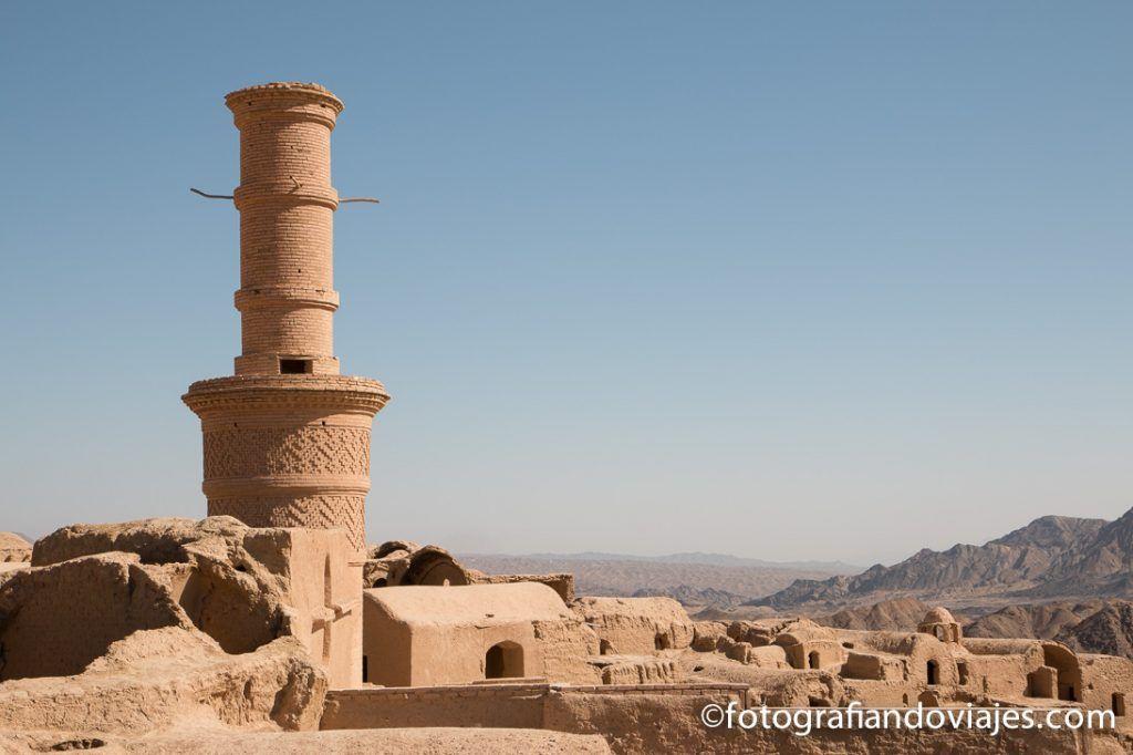Minarete vibrante de Kharanaq Yazd