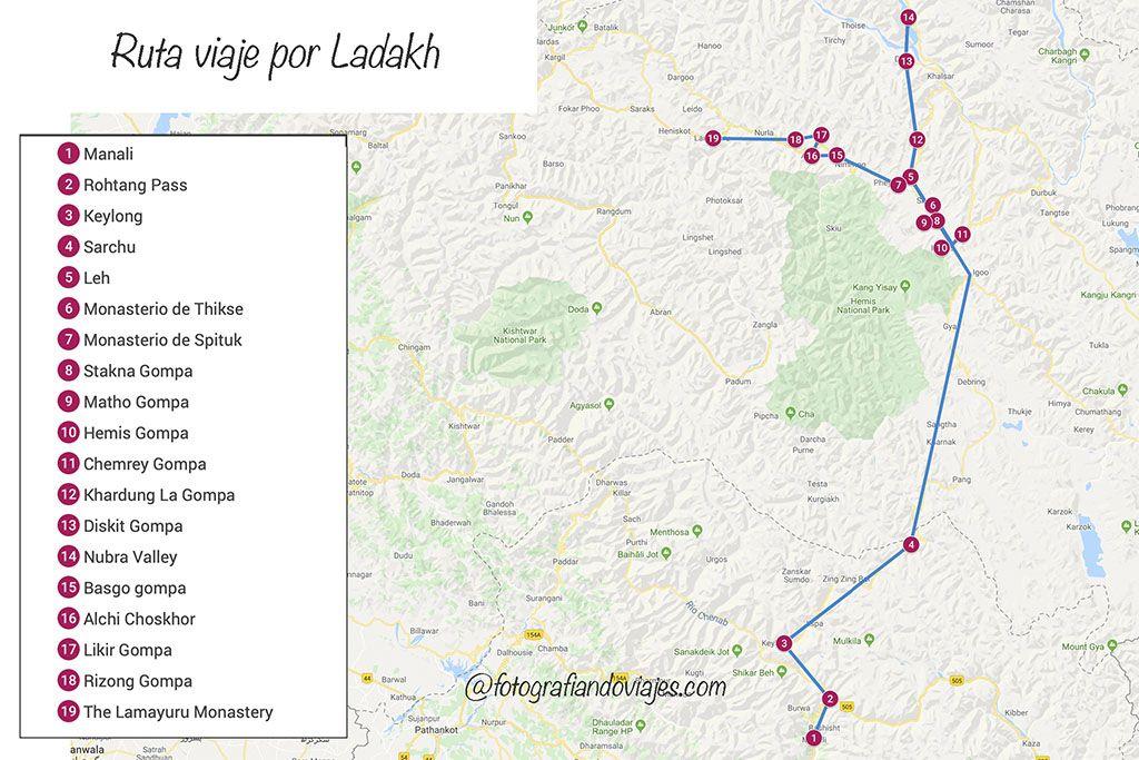Ladakh ruta de viaje