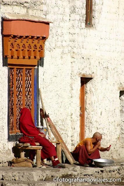 Monjes en Ladakh