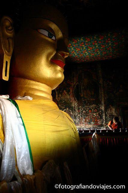 Buda del gompa de Shey