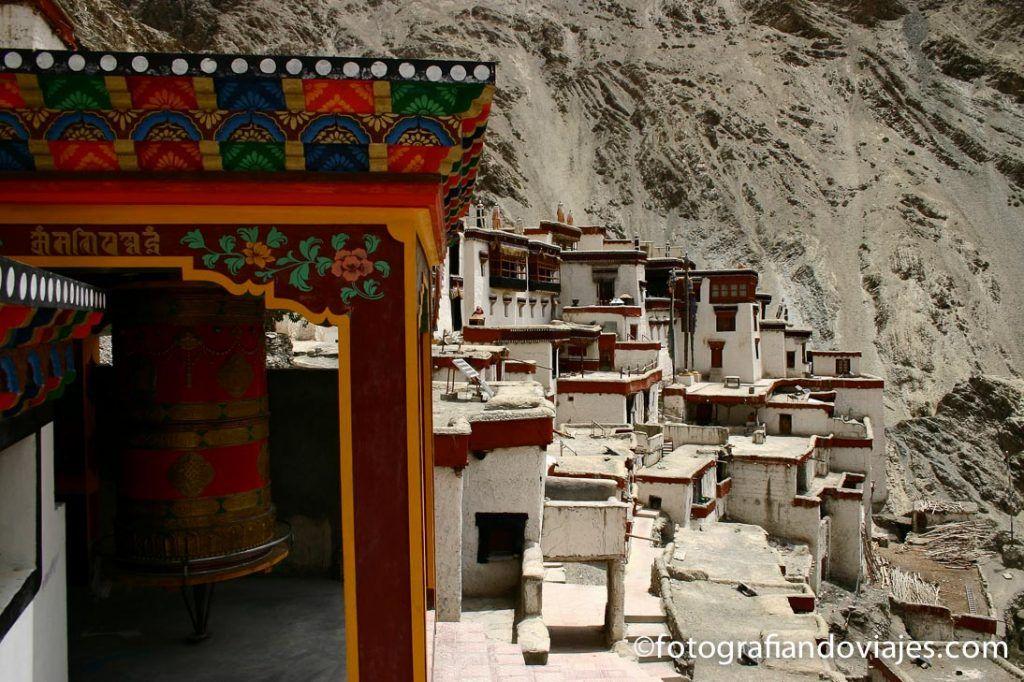 Monasterio de Rizong en Ladakh oeste Leh