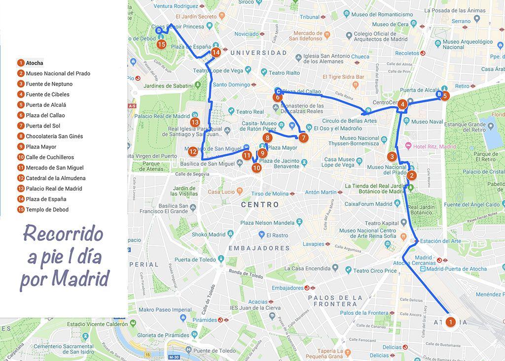 Recorrido a pie por Madrid 1 día