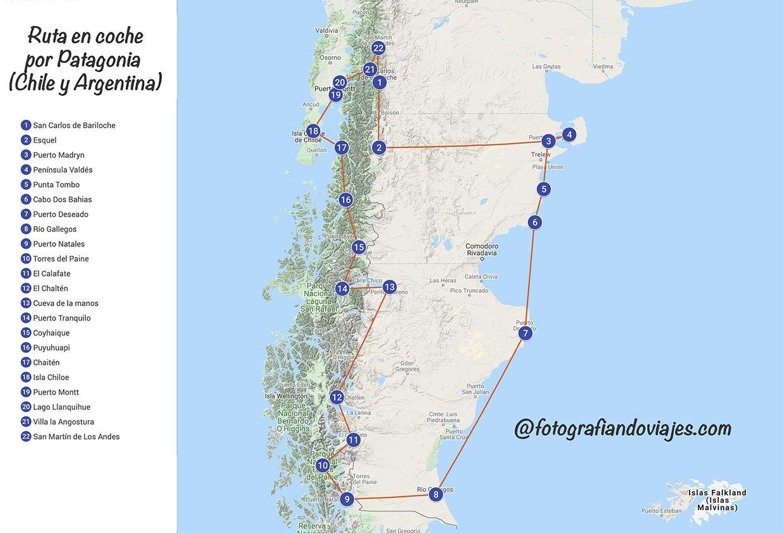 Recorrido en auto por Patagonia