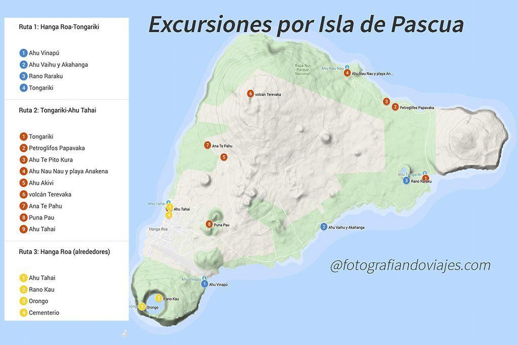 rutas en auto por isla de pascua