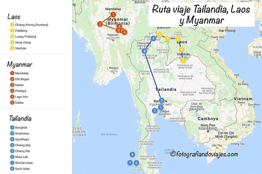Ruta Myanmar laos tailandia
