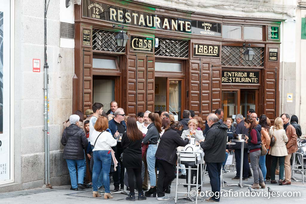 Casa Labra donde comer en Madrid