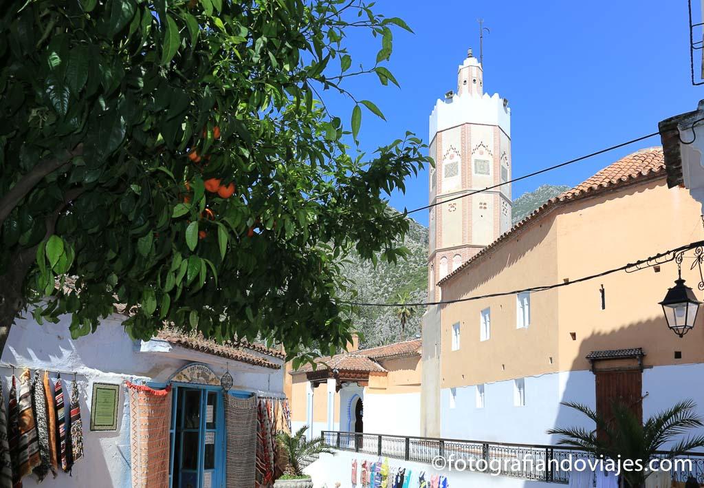 Minarete de la gran mezquita de Chefchaouen