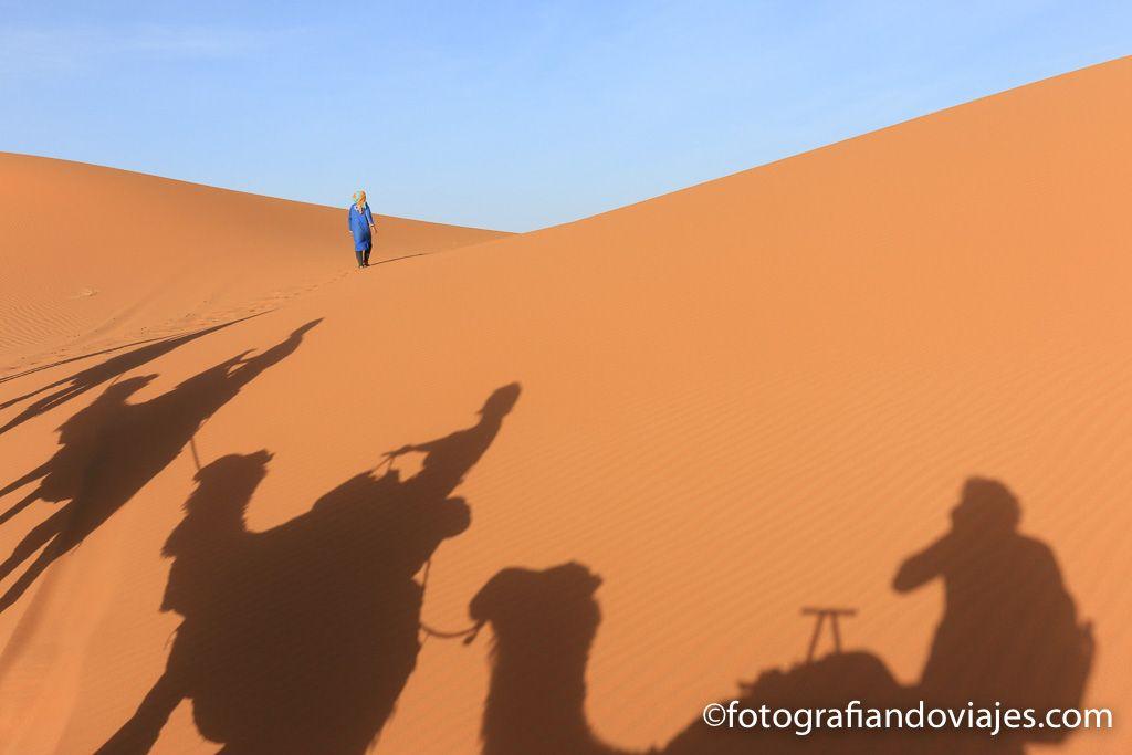 Recorrido en camello por el desierto Erg Chebbi
