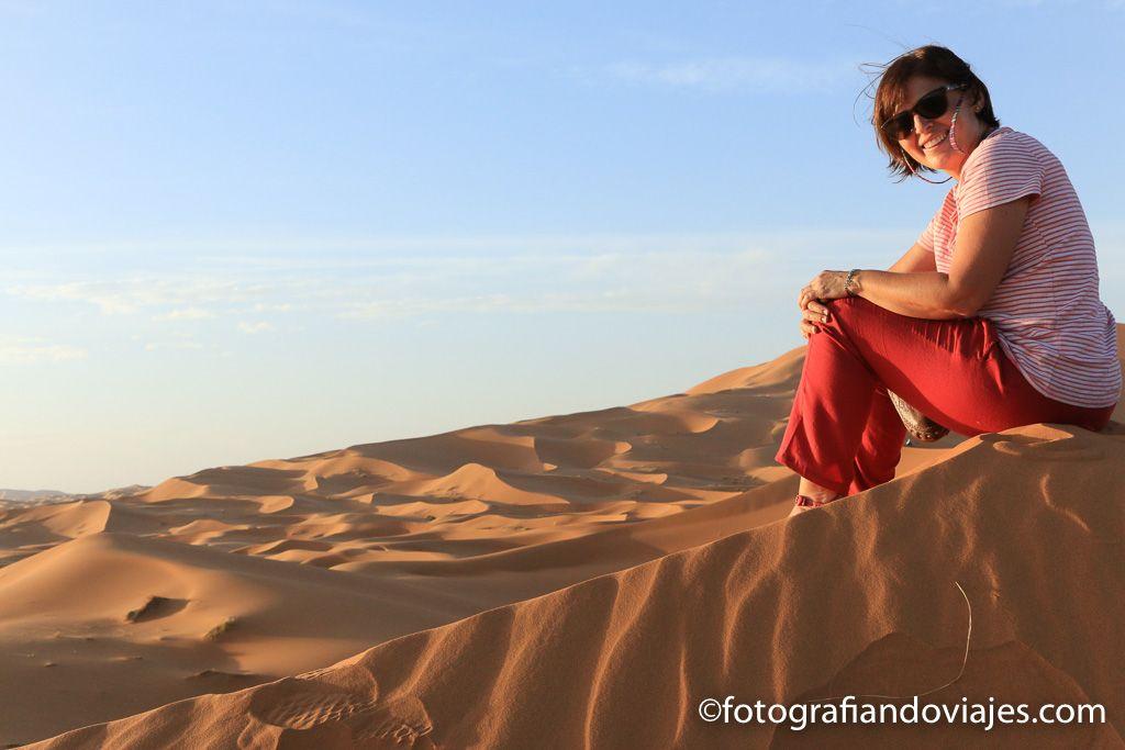 Atardecer entre dunas