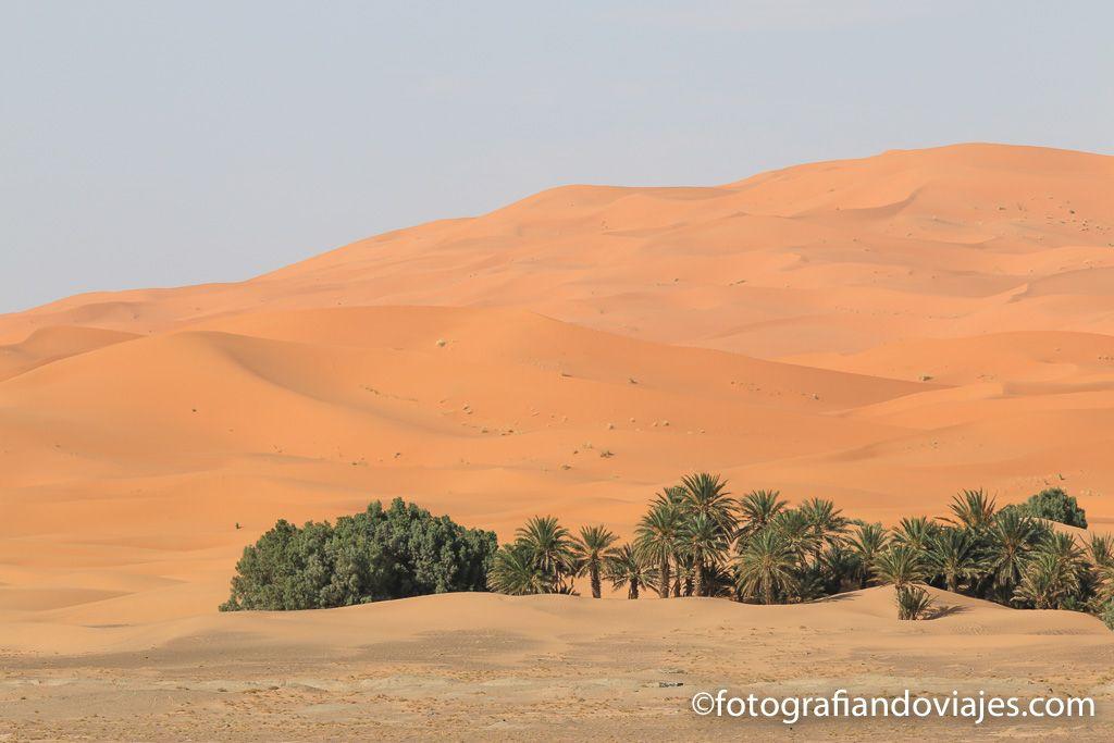 Dunas de arena en Merzouga