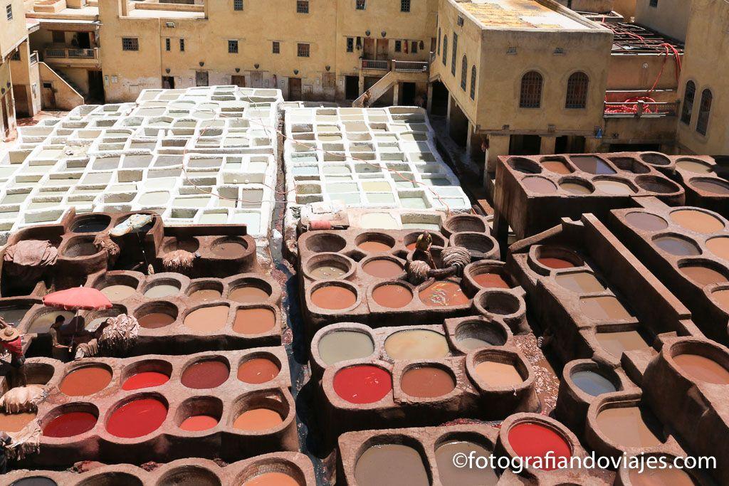 Fez o Fes en Marruecos curtiduría