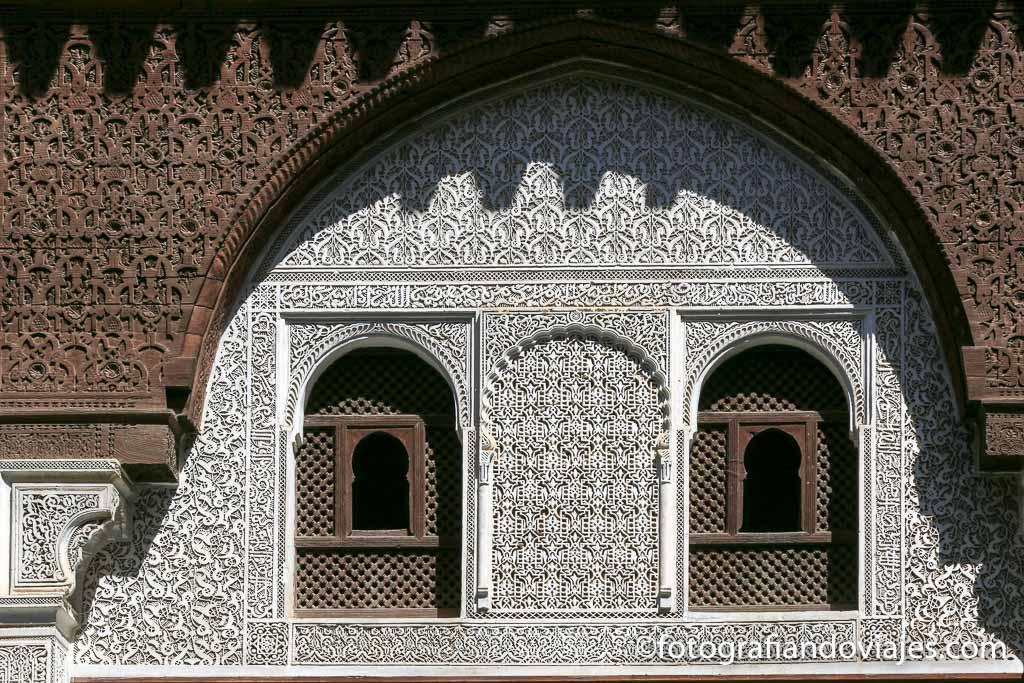 Detalle de la madraza Bou Inania Meknes