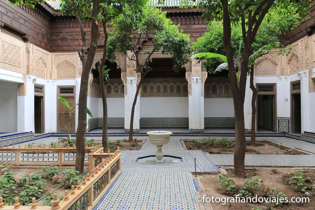 patio del Palacio Bahia Marruecos