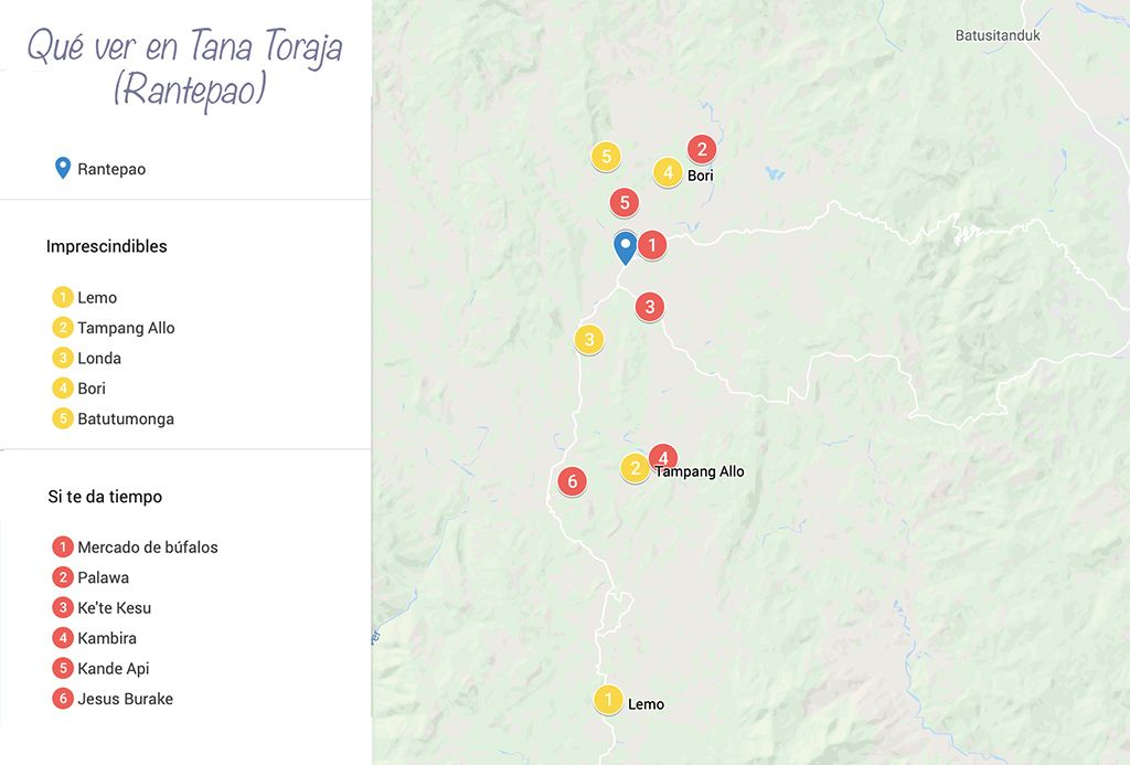 Que ver en Tana Toraja Rantepao