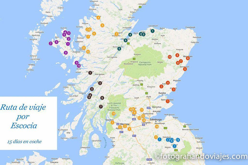Ruta de viaje Escocia