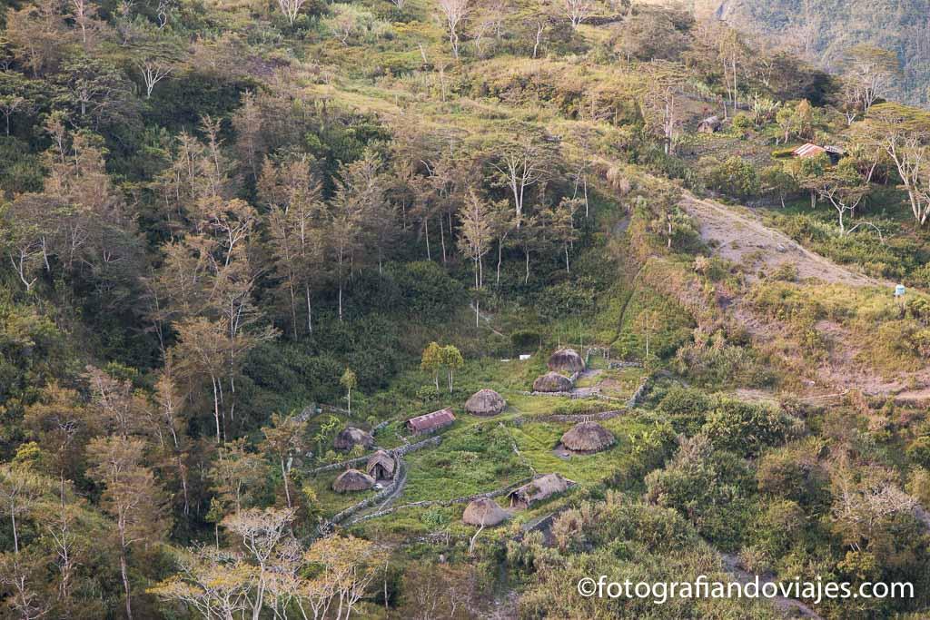 Pueblo en valle Baliem
