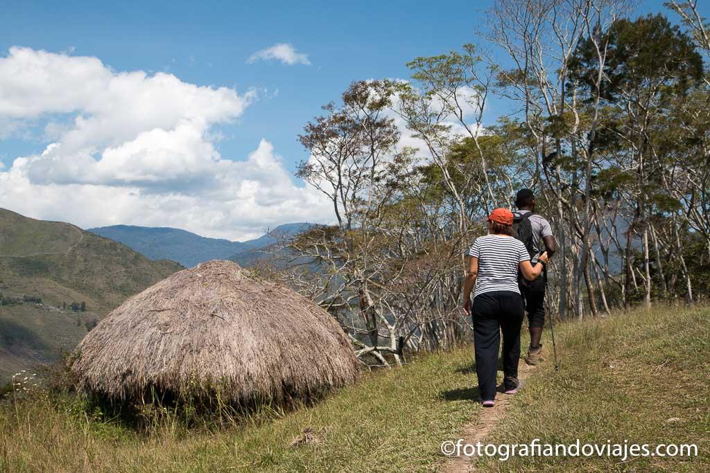 Trekking por el valle de Baliem