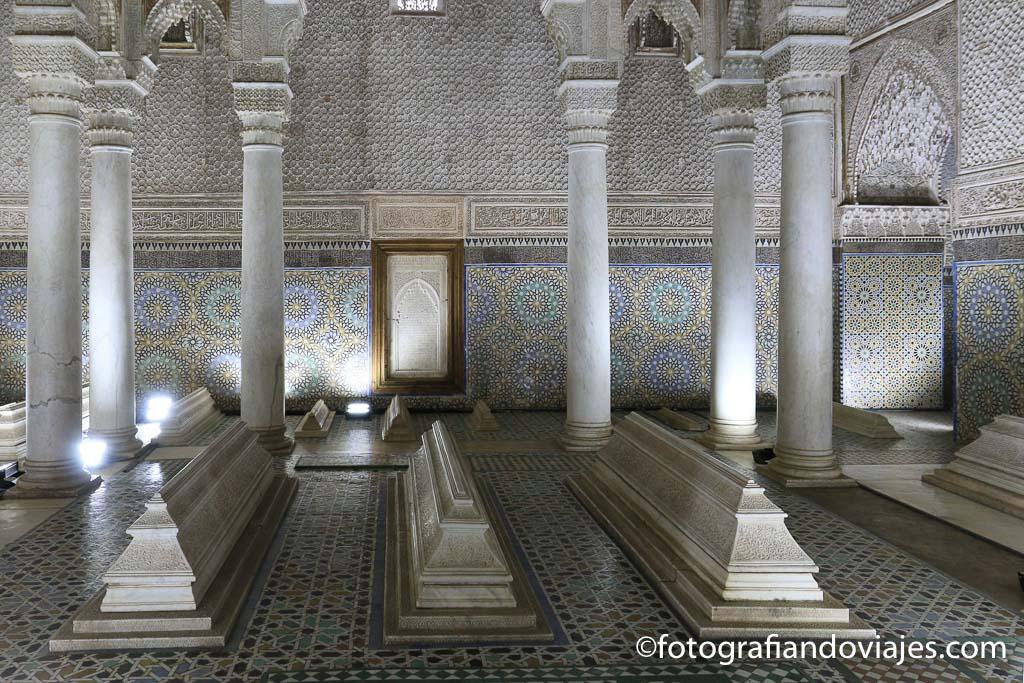 Sala de las 12 columnas tumbas saadies