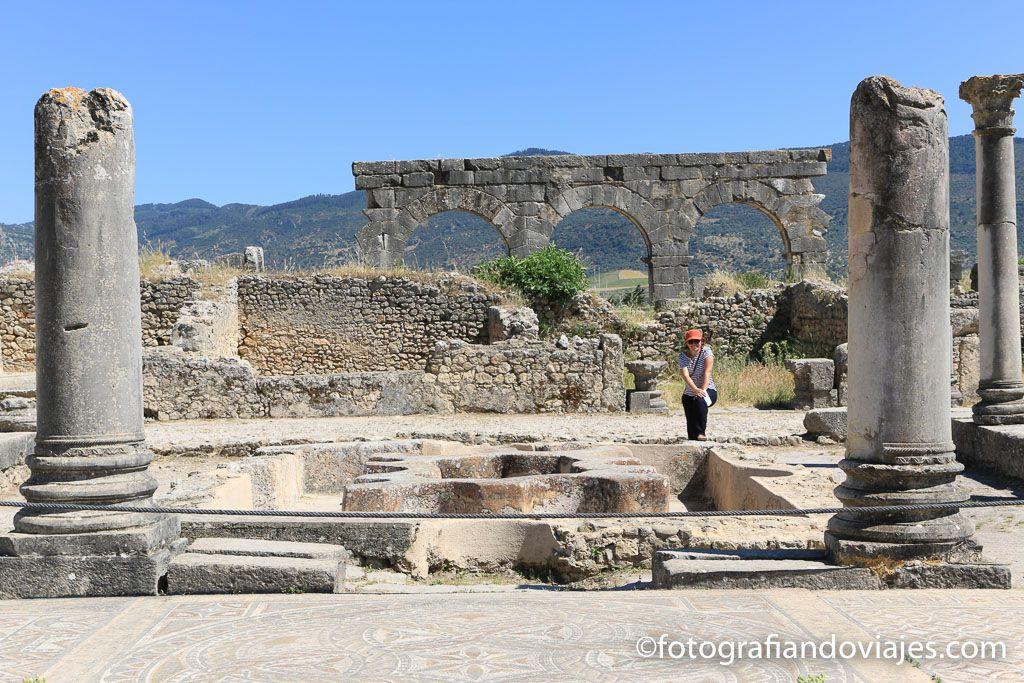 ruinas romanas Volubilis Fez Marruecos