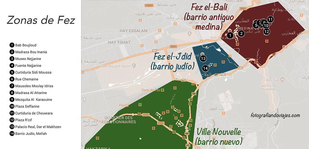 Zonas que ver en Fez