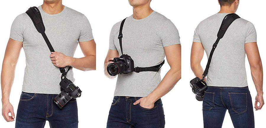 correa hombro llevar camara de fotos