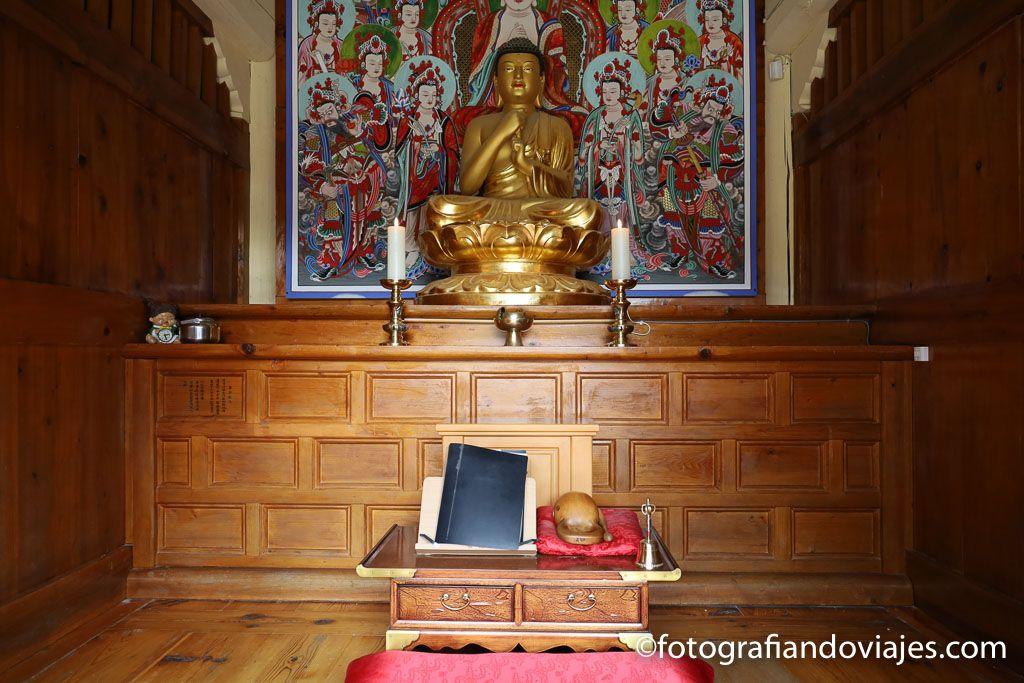 Templo Ssanggyesa sala de oracion