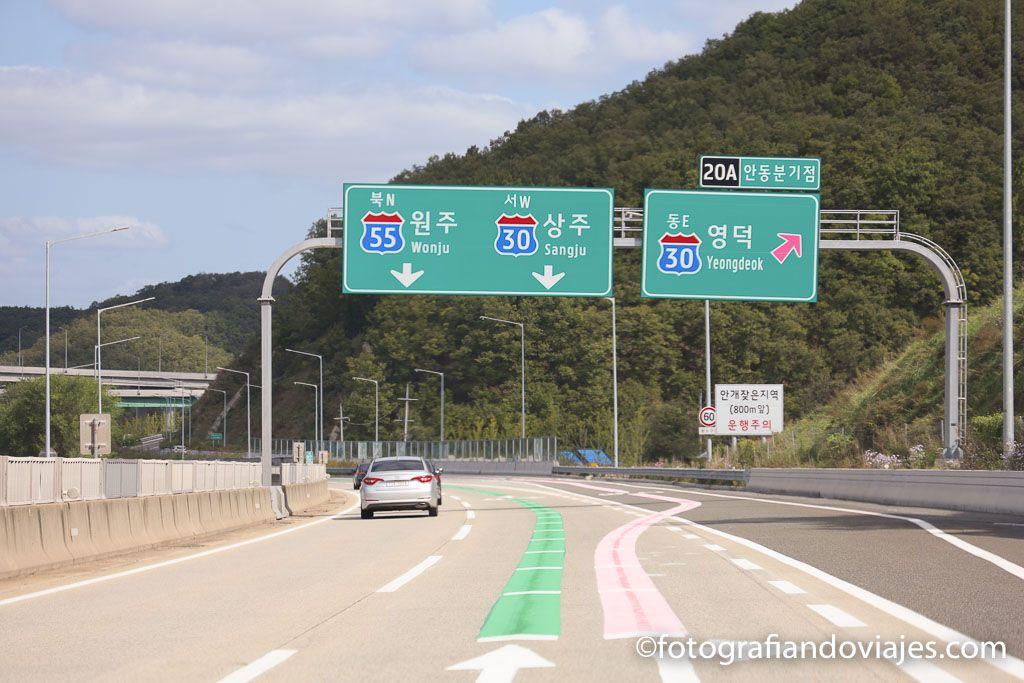carreteras de corea del sur