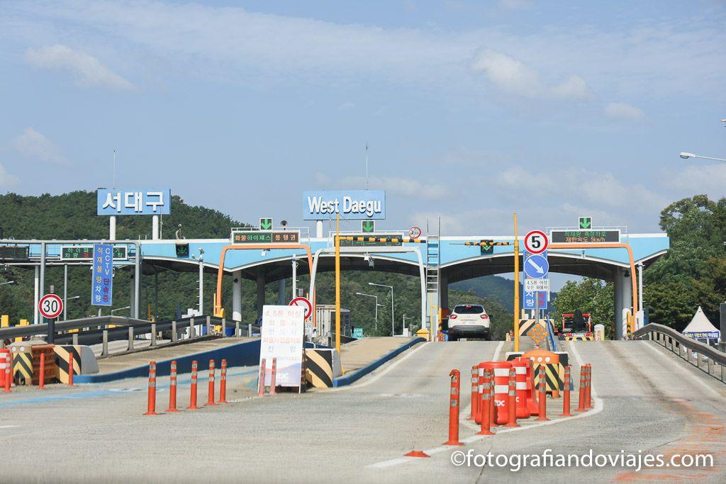 Viaje en coche por autopistas Corea del Sur