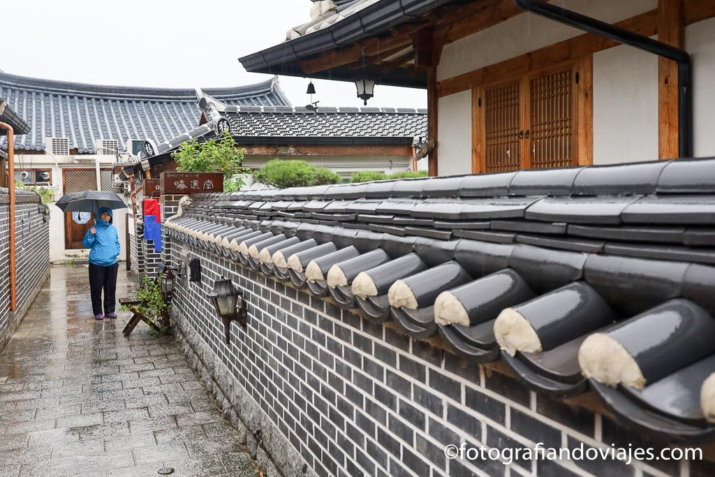 Hanok tradicional en Jeonju