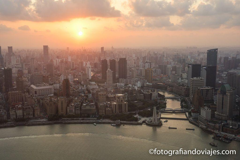 Atardecer en Shanghai