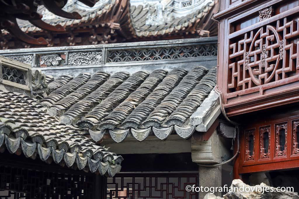 tejado tradicional chino