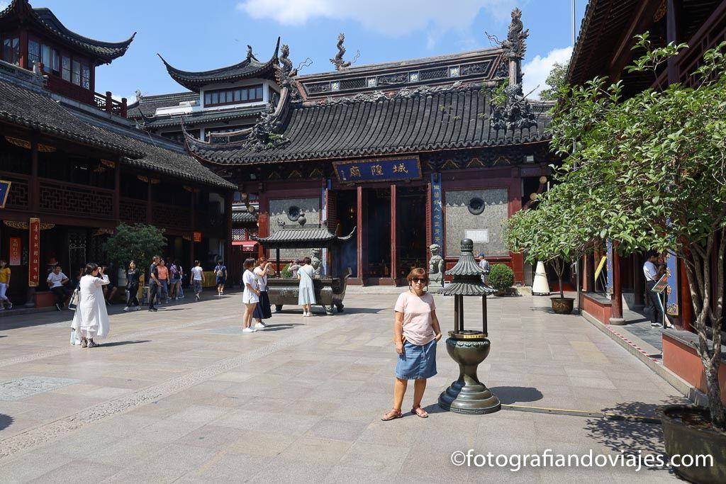 Templo dios de la ciudad en Shanghai