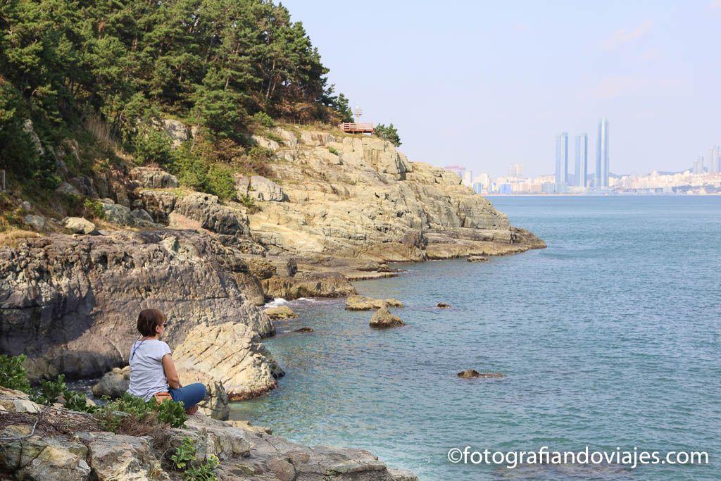 Camino costero parque Igidae e Busan Corea