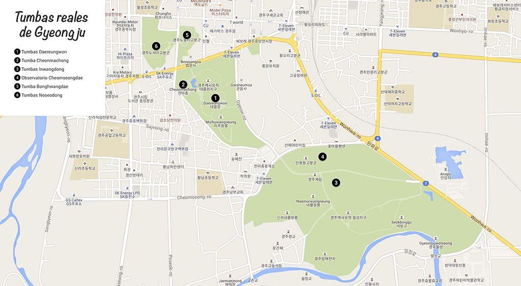 que tumbas reales de Gyeongju ver