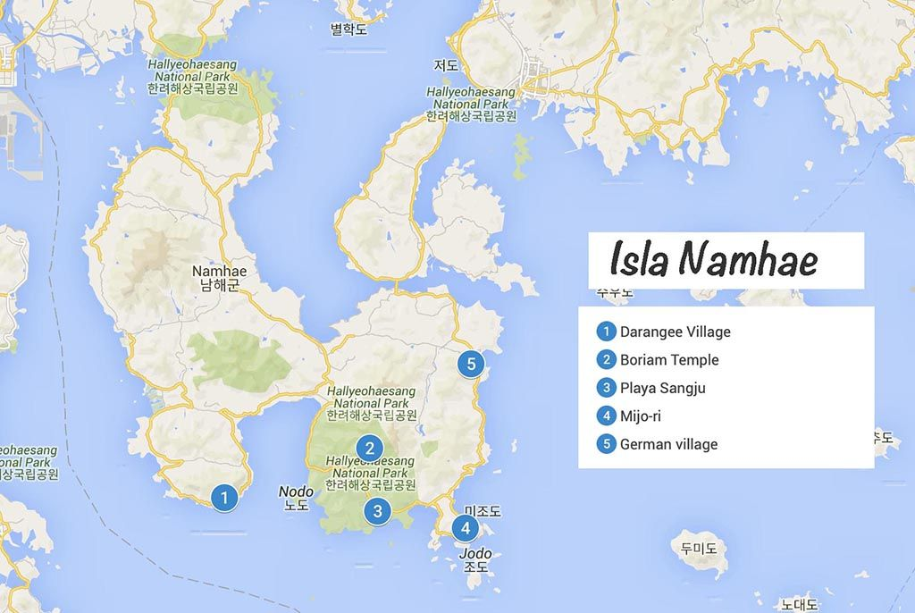 Isla namhae corea del sur