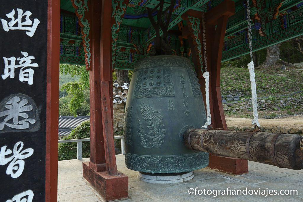 Campana templo coreano