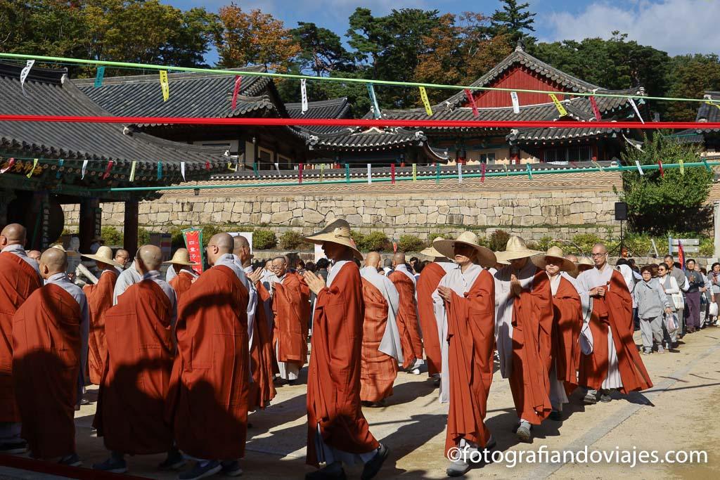 Festival templo Haeinsa Corea del Sur