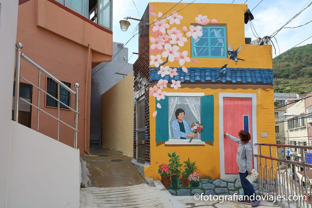 Aldea o barrio cultural de Gamcheon en Busan