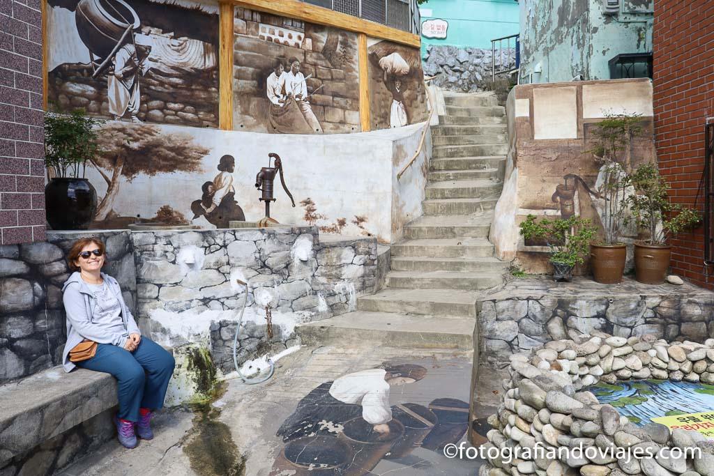 Aldea cultural Gamcheon Busan corea del sur