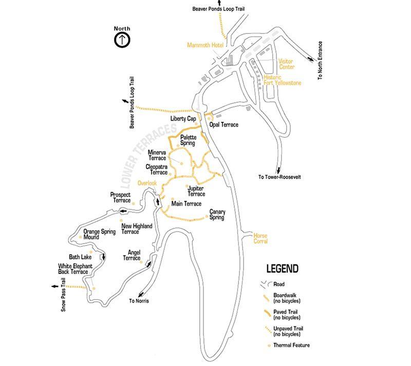 Mapa mammoth trail