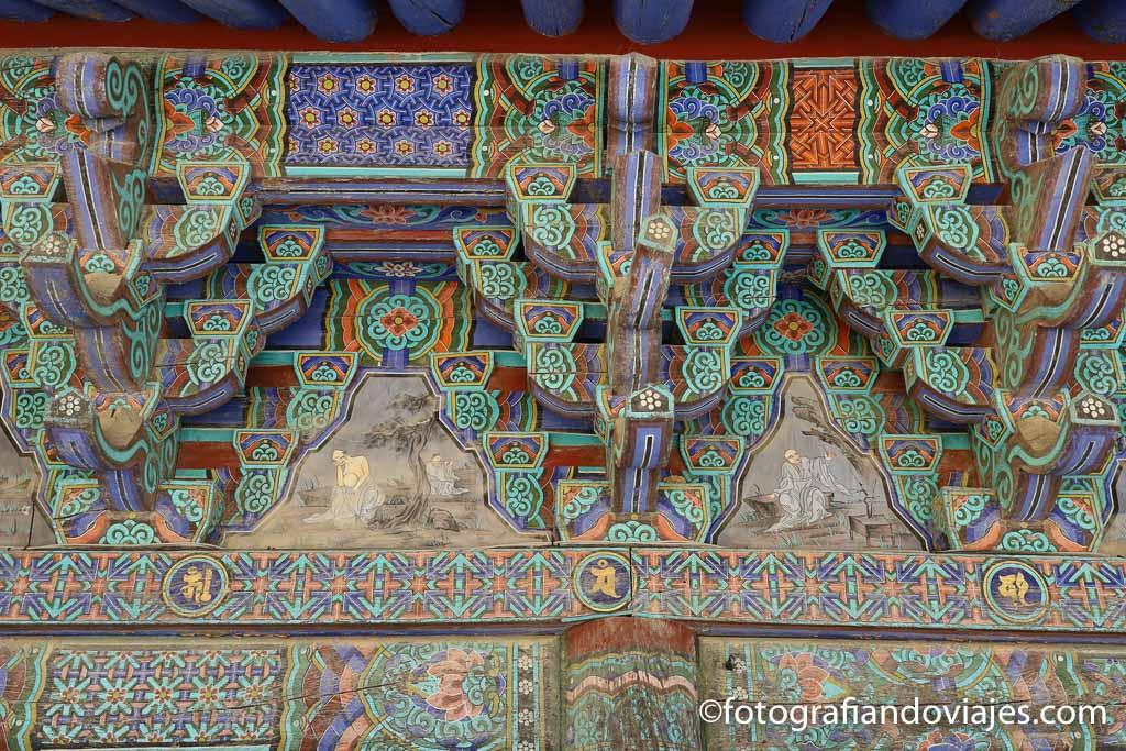 Detalle techo templo coreano