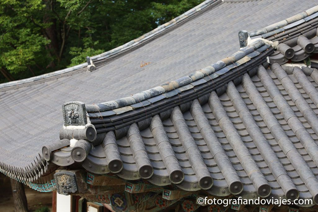 tejado en templo