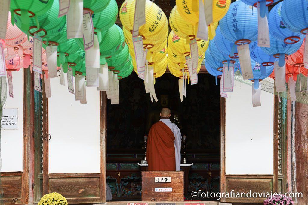 monje en corea del sur
